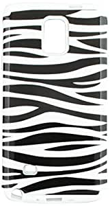 Eagle Cell Hybrid Silicone Case for SAMSUNG Galaxy Note 4 - Retail Packaging - White/Black/Zebra