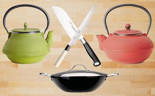 Asian Fusion: Tea Kettles & Cookware!