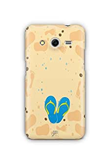 YuBingo Slippers on Beach Mobile Case Back Cover for Samsung Galaxy Core 2