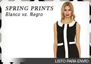 Spring prints: blanco vs. negro