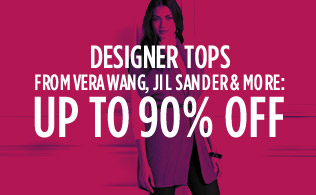 Designer Tops from Vera Wang, Jil Sander & More: Up to 90% Off