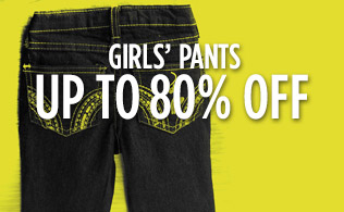 Girls' Pants: Up to 80% Off