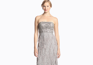 Sue wong women s gown with ostrich feathers platinum - Sue Wong Stylish Daily