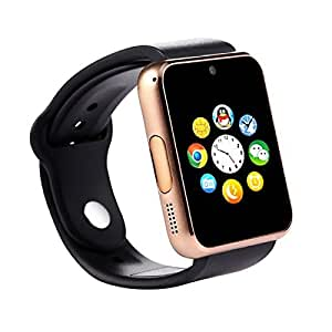 with SIM card, 32GB memory card slot, Bluetooth and Fitness Tracker BROWN Smartwatch