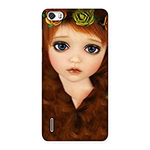 Delighted Tini Doll Multicolor Back Case Cover for Honor 6