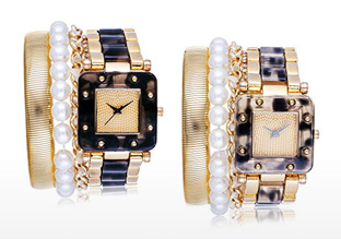 Photo of diamond watches from the beauty care section.