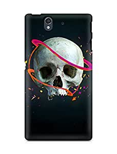 Amez designer printed 3d premium high quality back case cover for Sony Xperia Z (Skull lines vector confetti arrows)