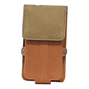 Jo Jo A6 Nillofer Series Leather Pouch Holster Case For BLU Win JR LTE Orange Tan