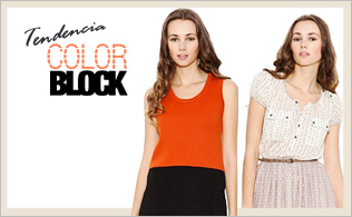 "Tendencia ""Color Block"": Beige & Naranja"