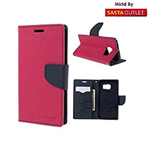 Sony Xperia SP Mercury Flip Wallet Diary Card Case Cover (Pink) By Wellcare