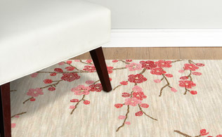Contemporary Styles: Floral Rugs!