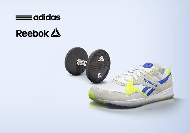 adidas & Reebok fitness and footwear