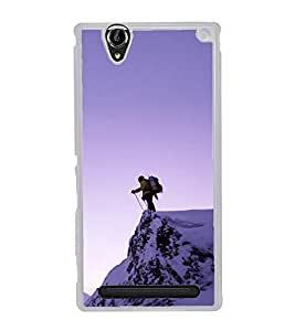 Skiing 2D Hard Polycarbonate Designer Back Case Cover for Sony Xperia T2 Ultra :: Sony Xperia T2 Ultra Dual SIM D5322 :: Sony Xperia T2 Ultra XM50h