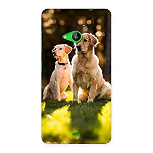 Luxirious Do Kutte Back Case Cover for Lumia 535