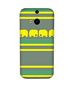 Stripes And Elephant Print (16) HTC One M8 Case