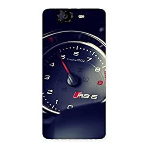 Gorgeous Speedo Meter Multicolor Back Case Cover for Canvas Knight A350