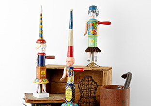 Found Object Sculptures By Primitive Twig!