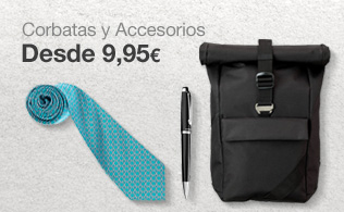 Corbatas y accesorios: desde 9.95€