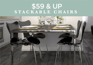 $59 & Up: Stackable Chairs!