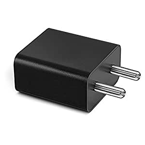 ShopReals 2 Amp Mobile Charger Adapter For Micromax Bolt A066 Charger Mobile Phone Charger Power Adapter Wall Charger Fast Charger Android Charger Battery Charger Hi Speed Travel Charger Without USB Cable ( 2 Ampere , Black )