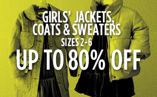 Girls' Jackets, Coats & Sweaters Sizes 2-6: Up to 80% Off