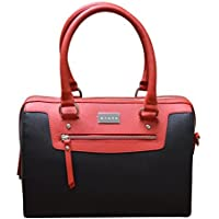CROSS Women's P.U Evening Satchel Bag Galicia Range - Red/black (AC121075-1)