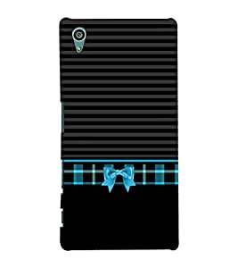 Kitty Bow Knot Pattern 3D Hard Polycarbonate Designer Back Case Cover for Sony Xperia Z5 :: Sony Xperia Z5 Dual (5.2 Inches)