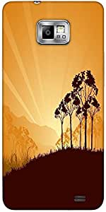 Snoogg Sunrise In Savanna Protective Case Cover For Samsung Galaxy S2
