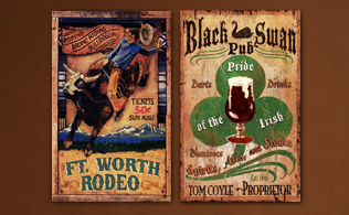Red Horse Vintage Wooden Signs!