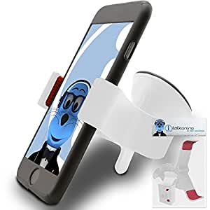 iTALKonline BLU Hero II White SuperClaw Multi-Directional Dashboard / Windscreen, Case Compatible (Use with or without your existing case!) Clip On Suction Mount In Car Holder