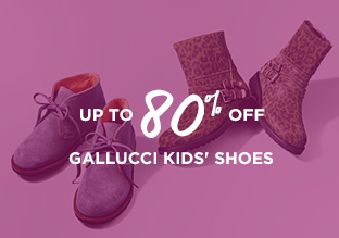 Up to 80% Off: Gallucci Kids' Shoes