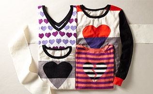 For the Love of Hearts: Patterned Sweaters!
