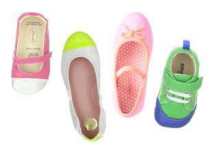 Retrocesos coloridas: Zapatos para niños
