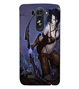 ColourCraft The Warrior Girl Design Back Case Cover for LG G3 BEAT