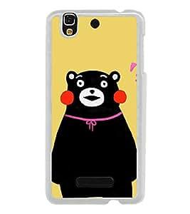 Cute Bear 2D Hard Polycarbonate Designer Back Case Cover for YU Yureka :: YU Yureka AO5510