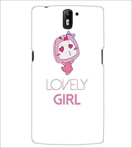 ONE PLUS ONE LOVELY GIRL Designer Back Cover Case By PRINTSWAG