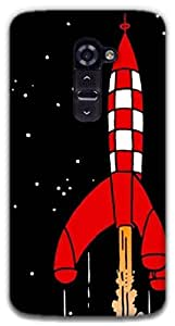 The Racoon Grip Destination Moon hard plastic printed back case / cover for LG G2