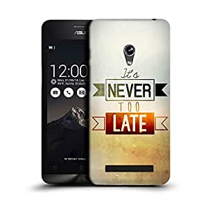 MobileGlaze Designs Sunny Inspirational Too Late Hard Back Case Cover for ASUS ZENFONE 5