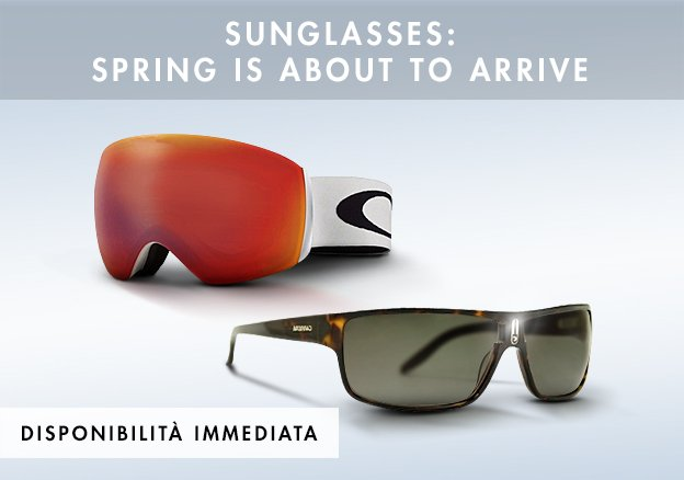 Sunglasses:Spring is about to arrive!
