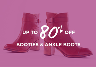 Up to 80% Off: Booties & Ankle Boots