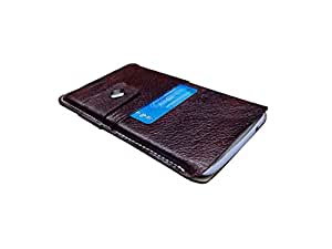 ATV Genuine Leather Pouch For Oppo R7 Plus (Brown)
