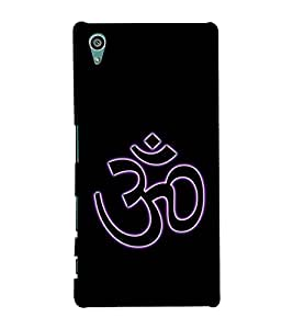 Om Mantra logo 3D Hard Polycarbonate Designer Back Case Cover for Sony Xperia Z5 :: Sony Xperia Z5 Dual (5.2 Inches)