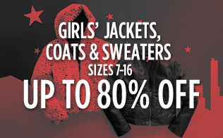 Girls' Jackets, Coats & Sweaters Sizes 7-16: Up to 80% Off