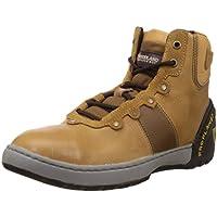 Woodland Men's Tan Leather  Shoes - 8 UK/India (42 EU)