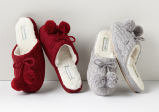 Up to 80% Off: Slippers & Robes!