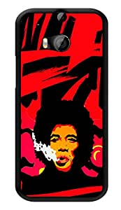 """Humor Gang Jimi Hendrix Abstract Paint Art Printed Designer Mobile Back Cover For """"HTC ONE M8 - HTC ONE M8S"""" (2D, Glossy, Premium Quality, Protective Snap On Slim Hard Phone Case, Multi Color)"""
