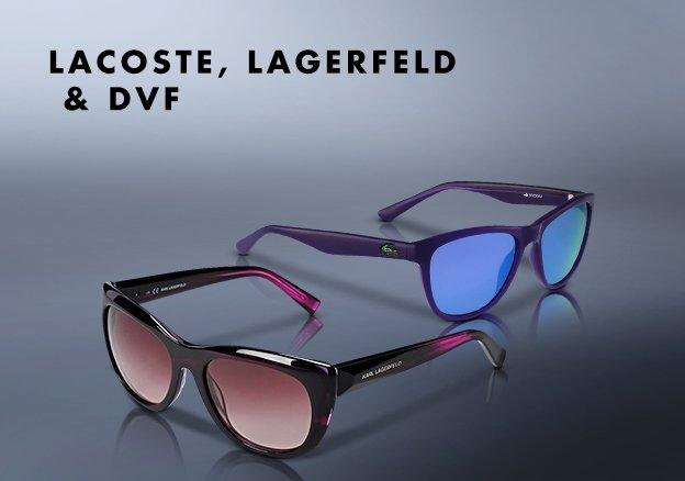 Lacoste, Lagerfeld & DVF