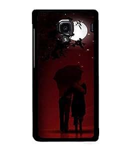 Fuson Premium Happy Couple Metal Printed with Hard Plastic Back Case Cover for Xiaomi Redmi 1S