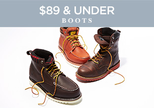 $89 & Under: Boots!