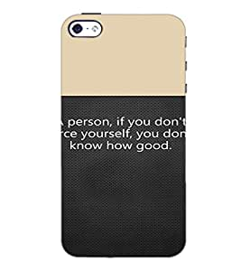 PrintDhaba Quote D-4719 Back Case Cover for APPLE IPHONE 4S (Multi-Coloured)
